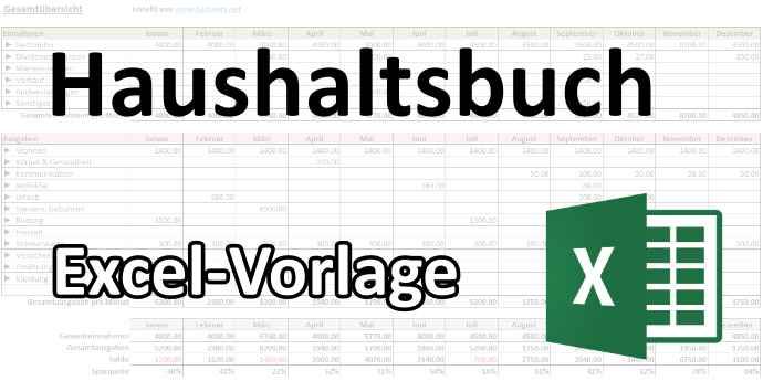 Privates Haushaltsbuch mit Excel